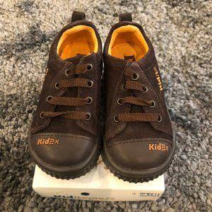 Boys Kid Express Dark Brown Suede Sneakers
